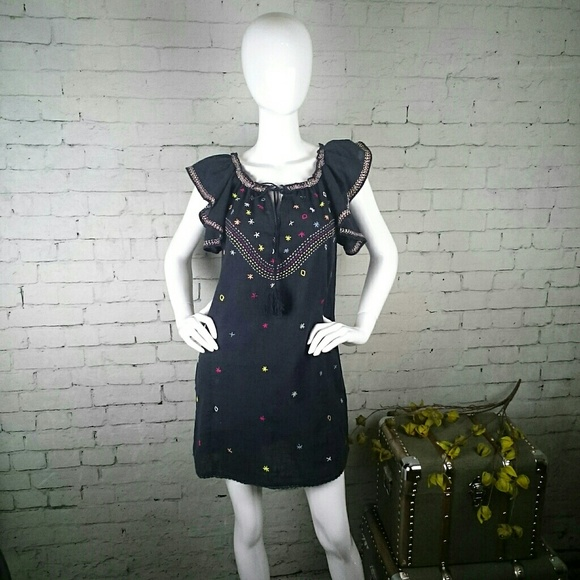 Rocks & Indigo Dresses & Skirts - NWT Rocks & Indigo boho embroidered shift dress